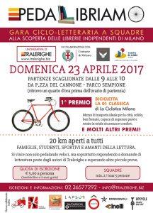 Pedalibriamo: gara cicloletteraria a squadre domenica 23 aprile a Milano